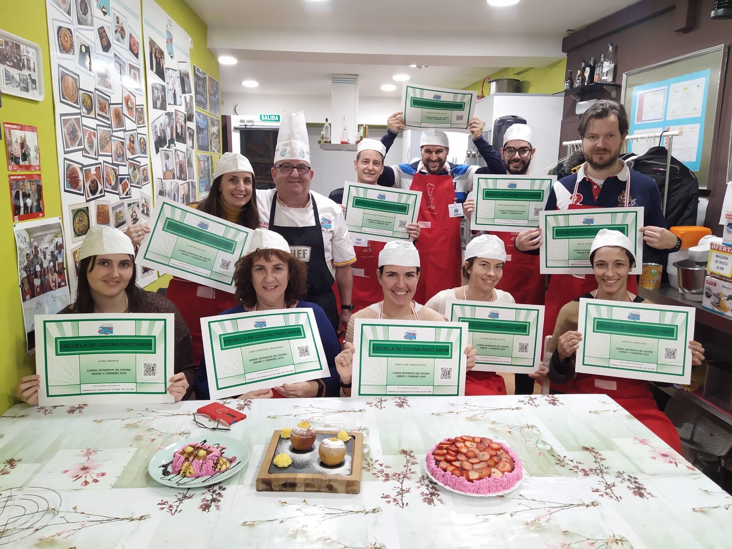 alumnos curso intensivo de cocina
